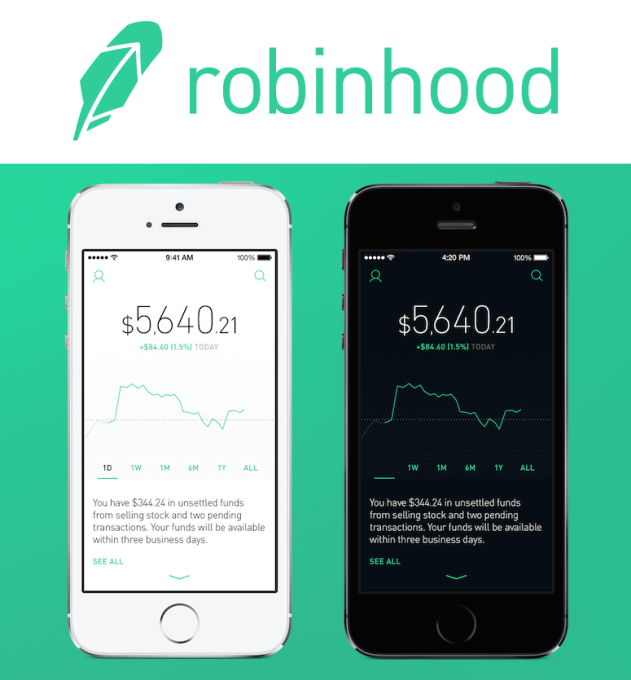 Robinhood Commission-Free Investing Colors